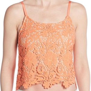 Alice and Olivia lace crop top